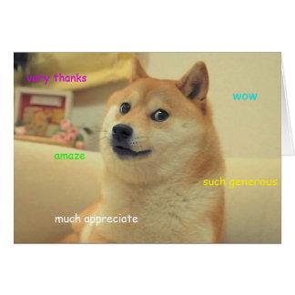 Doge danken Ihnen zu kardieren Grußkarte