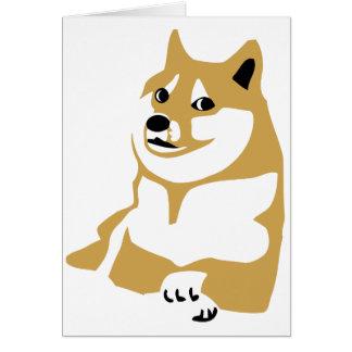 Doge - Internet meme Grußkarte