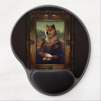 Doge-Mona Lisa schöne Kunst Shibe Meme Malerei Gel Mouse Pads