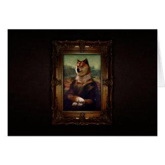 Doge-Mona Lisa schöne Kunst Shibe Meme Malerei Grußkarte