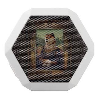 Doge-Mona Lisa schöne Kunst Shibe Meme Malerei Weiße Bluetooth Lautsprecher