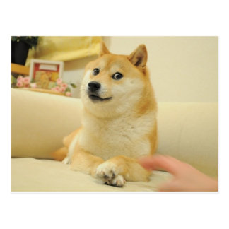 Doge Postkarte