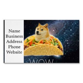 Doge Taco - Doge-shibeDoge Hund-niedlicher Doge Visitenkartenmagnet