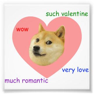 Doge viel Valentinstag-sehr Liebe so romantisch Kunstfoto