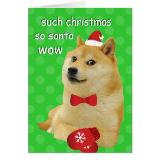 Doge-Weihnachtskarte Karte