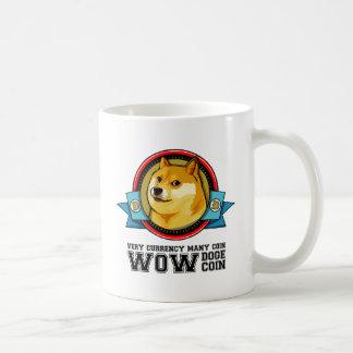 Dogecoin Doge Shibe wow viel Netz-Emblem Kaffeetasse