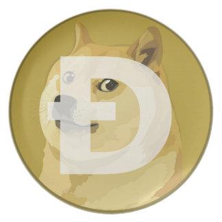 Dogecoin Platte Melaminteller