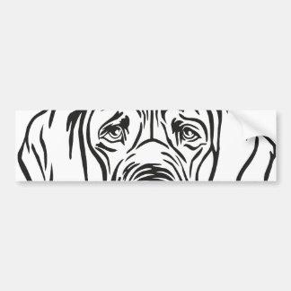 Dogge-Gesicht Autoaufkleber