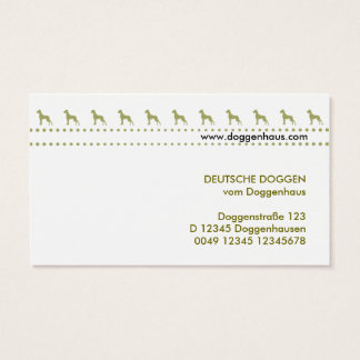 Dogge-Green Cards Visitenkarte