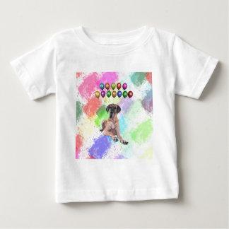 Dogge-Hund, der guten Rutsch ins Neue Jahr wünscht Baby T-shirt