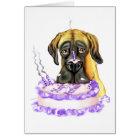 Dogge-Kitz UC-Geburtstags-Kuchen Karte