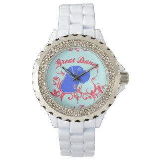 Dogge-Logo Armbanduhr