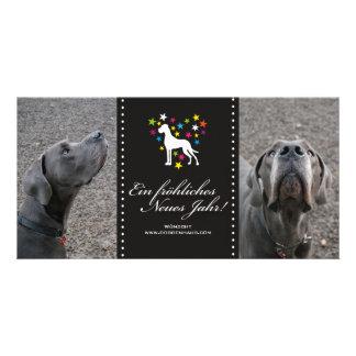 Dogge-Saisonkarten Fotokartenvorlage