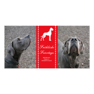 Dogge-Saisonkarten Photo Karte