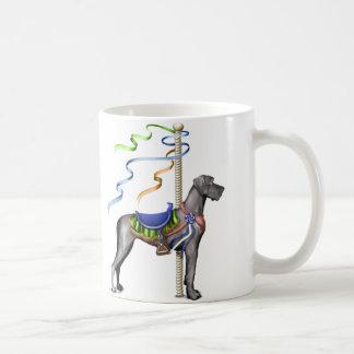 Dogge-schwarzes Karussell UC Kaffeetasse