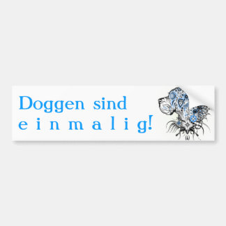 Dogge-Tätowierungs-Art Autoaufkleber