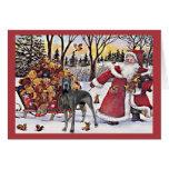 Dogge-Weihnachtskarten-Sankt-Bären Karte