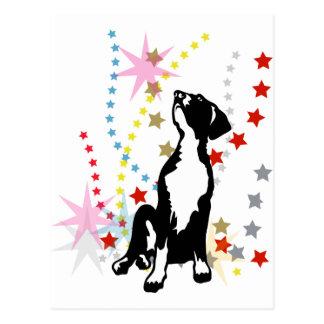 Dogge-Welpe mit Sternen Postkarte