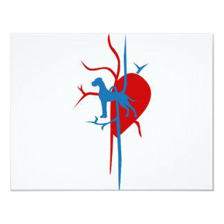 Doggen im Herzen 10,8 X 14 Cm Einladungskarte