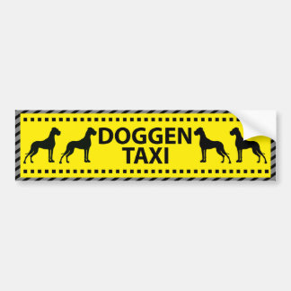 Doggen Taxi Autoaufkleber