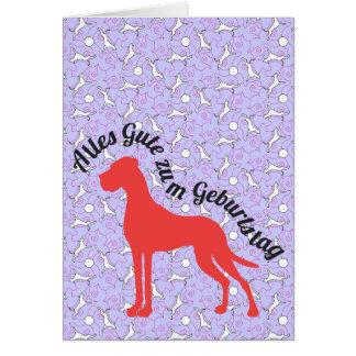 Doggenkarte Alles Gute zum Geburtstag Karte