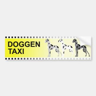 Doggentaxi Autoaufkleber