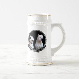 Dogo Argentino Stein Bierglas