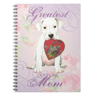 Dogo Herz-Mamma Spiral Notizblock