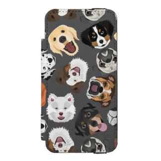 DogPattern01_02_B_Quadrat.ai Incipio Watson™ iPhone 5 Geldbörsen Hülle