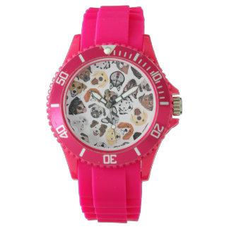 DogPattern02_01_B_Quadrat.ai Armbanduhr