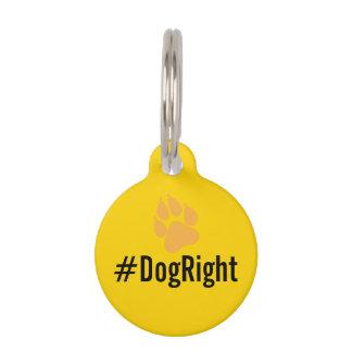 #DogRight MAGA lustige editable Erkennungsmarke Tiermarke