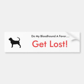 Dogsilhouette-Bluthund-t, tun meinen Bluthund A… Autoaufkleber