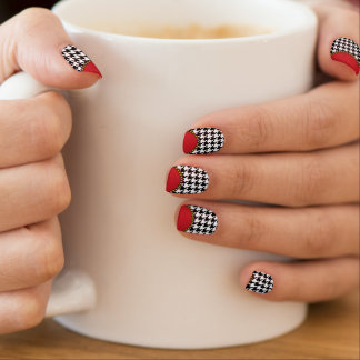 Dogtooth, Hahnentrittmustermuster in Black&White Minx Nagelkunst