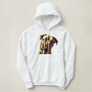 Dogue de bordeaux, braun hoodie