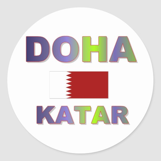 Doha Runder Aufkleber