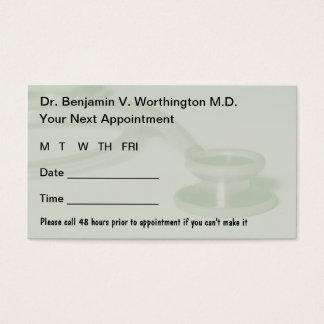 Doktor Appointment Cards Visitenkarte