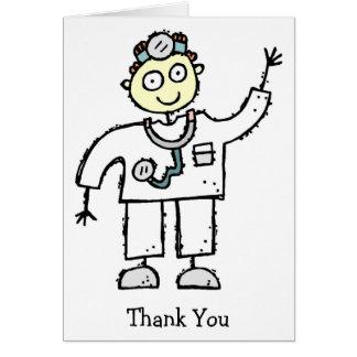 Doktor Male Thank You Cards Karte