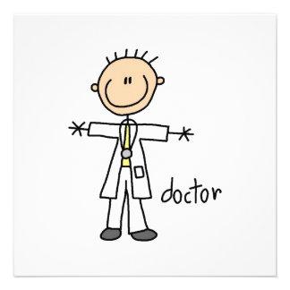 Doktor Strichmännchen Individuelle Einladungen
