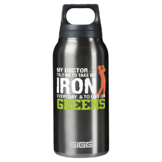 Doktor Told Me Take Iron grünes lebhaftgolf Isolierte Flasche