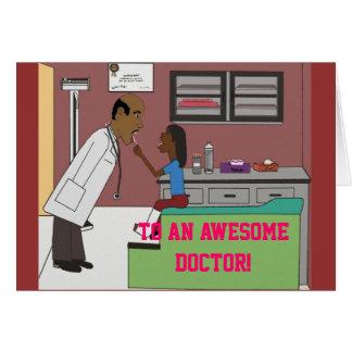 Doktor und kleiner Patient Karte