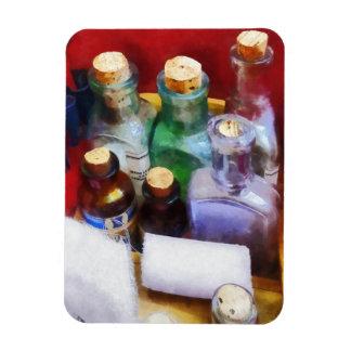 Doktoren - Medizin-Flaschen und Verbände Eckiger Magnet