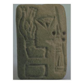 Dokument, das aus Ideogrammen, von Uruk besteht, Postkarte