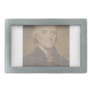 dokumentiertes Jefferson Rechteckige Gürtelschnallen