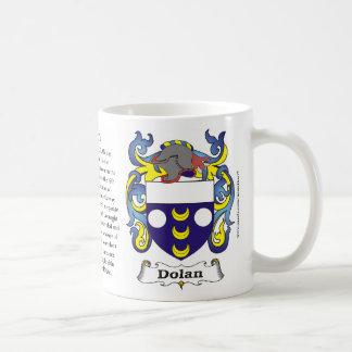 Dolan, Ursprung, Bedeutung und das Wappen auf Kaffeetasse