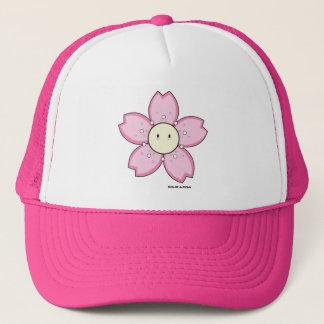 Dolce rosa Fernlastfahrer-Hut Dolce Blumen-  u. Truckerkappe