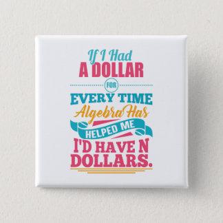 Dollar-Knopf des Quadratischer Button 5,1 Cm