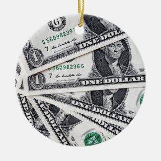 Dollar merkt 1 Dollar Keramik Ornament