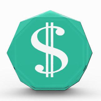 Dollar-Zeichen Acryl Auszeichnung