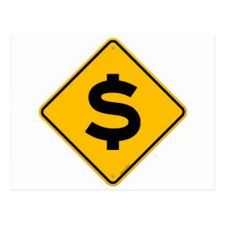 Dollar-Zeichen Postkarte