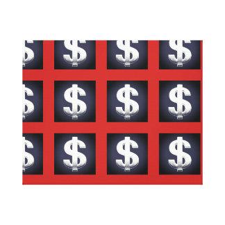 Dollar-Zeichen-Wand-Kunst-Leinwand Leinwanddruck